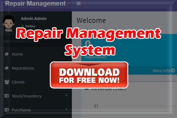 Repair Management System PHP MySQL Source Code