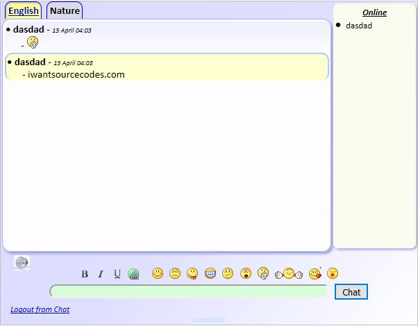 Simple Chat PHP Source Code Chat Room
