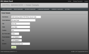 Hotel Booking System PHP MYSQL Source Code
