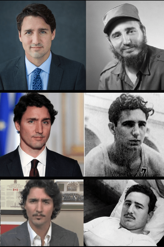 "Justin's ""legal father"" past prime minister Pierre Elliot loved the commies. Justin's mother Margaret was close to Castro and it is alleged that they had an affair, either way, Justin is a true commie."