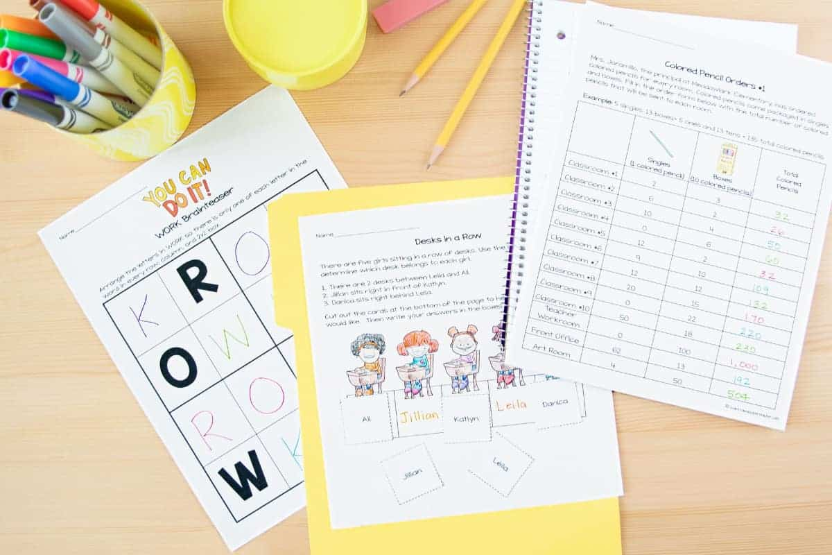 Back To School Math Worksheets 2nd 3rd Grade 8