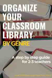 How to Organize Your Classroom Library by Genre   I Want to be a     There