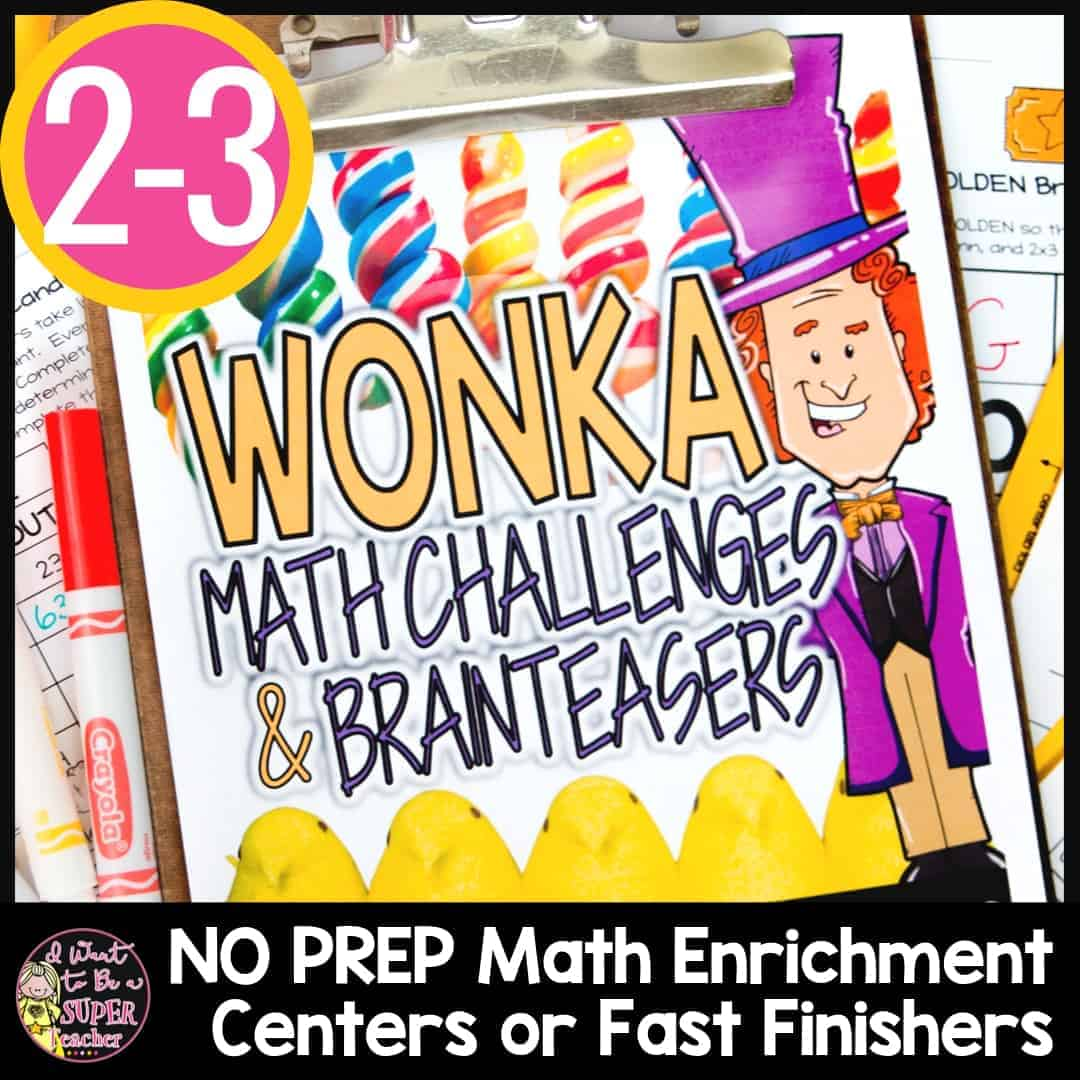 Charlie And The Chocolate Factory Math Activities