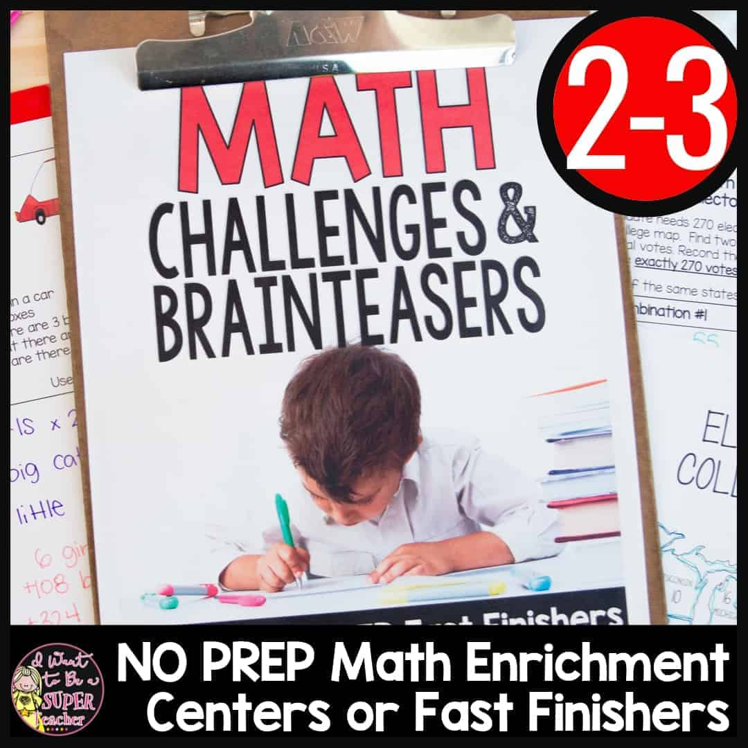 Math Challenges Amp Brainteasers For 2nd Amp 3rd Grade