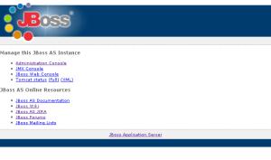 JBoss AS の起動と停止の画像
