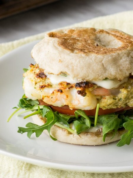 Tender Grilled Shrimp Seafood Burgers