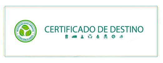 Certificado de Destinação Final