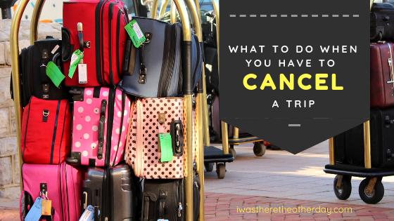 Cancel A Trip