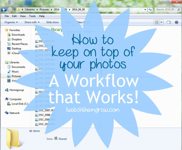 How to keep on top of your photos - a photo workflow that works!