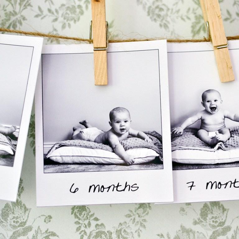 Pretend Polaroid Photo Project ~ iwatchthemgrow.com