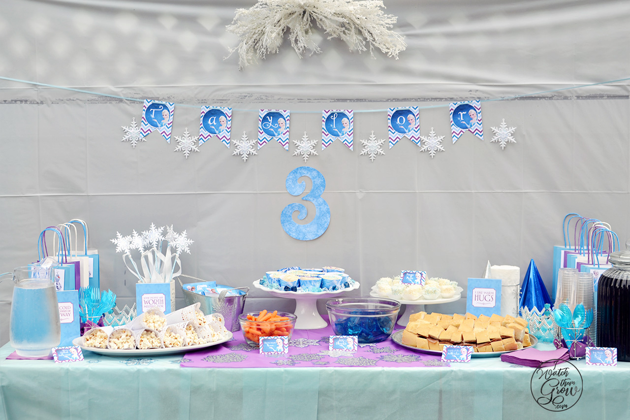 photo relating to Frozen Party Food Labels Free Printable referred to as How Towards Toss a Fantastic and Frugal Do-it-yourself Frozen Birthday Social gathering