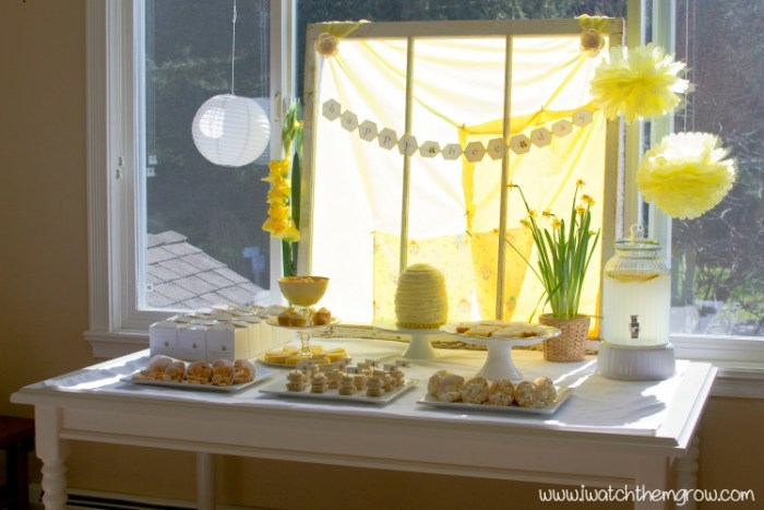 honey bee party decoration ideas