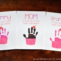 """I Love You More Than Cupcakes"" Cupcake Handprint Craft + Printable"