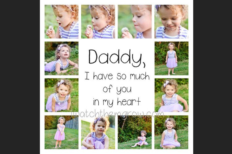 This free dad photo collage template is just too sweet! Perfect Father's Day gift!