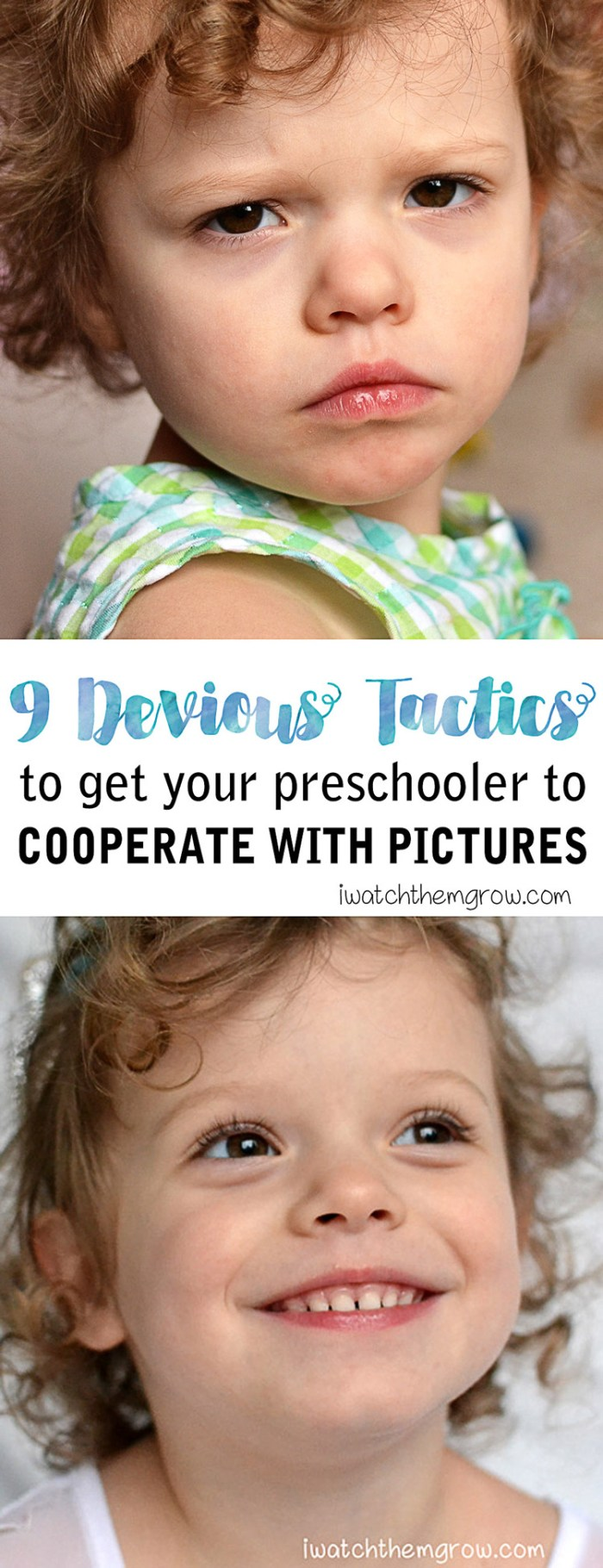 Want to know how to get your 3 year old to cooperate with pictures, and even like it? Try these devious tactics that work for me!