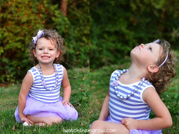 Want to know how to get your preschooler to cooperate with pictures? Try these devious tactics, they work for me! Step 2: Never ask her to smile or pose. Use your whiles to coax a real smile.