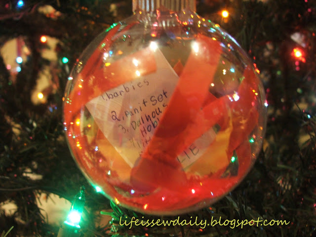 4/5 Handmade family memory Christmas tree decorations - Christmas wish list ornaments