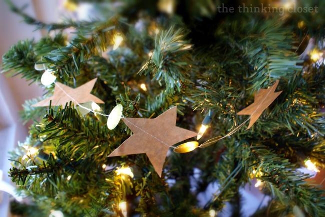5/5 Handmade family memory Christmas tree decorations - paper bag gratitude garland