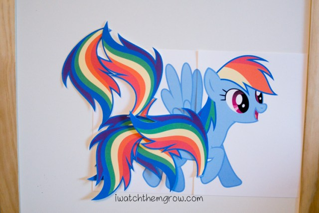 Pin the Tail on Rainbow Dash (Free Printable) - I Watch Them