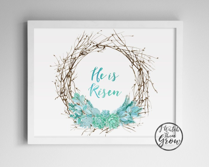 He Is Risen Easter Printable by I Watch Them Grow on Etsy