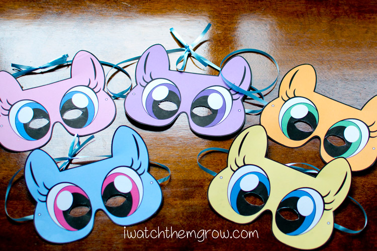 Free Printable My Little Pony Masks