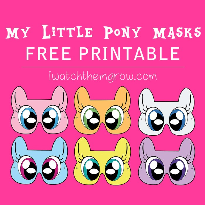Free printable My Little Pony masks! For your party photo booth or dress-up play!