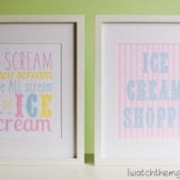 Free Printable Ice Cream Posters