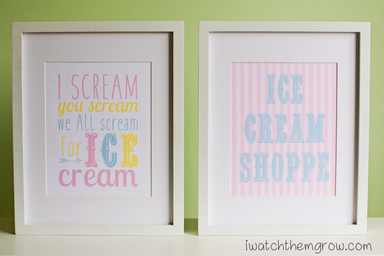 These ice cream posters will be perfect for my party!! I love the colors, so fun and dreamy!