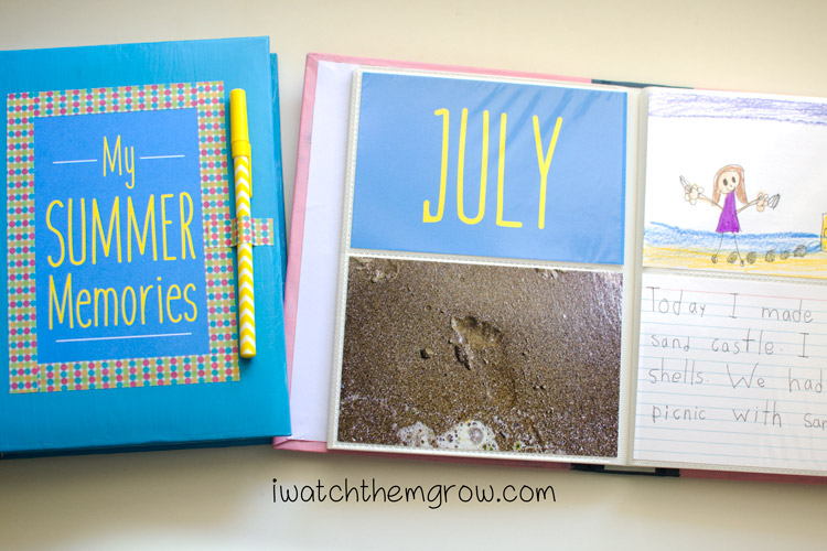 This is such a great idea!! Photo album and index cards for a DIY journal that kids can draw pictures, write or add photos! This is perfect for summer vacation or even on family trips, give the kids something quiet to do and record their memories too.