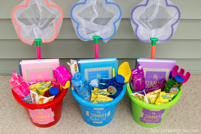 summer bucket gift idea