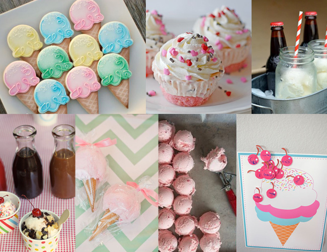 Serving hacks, DIY decorations, creative treats... so many awesome ice cream party ideas!!!