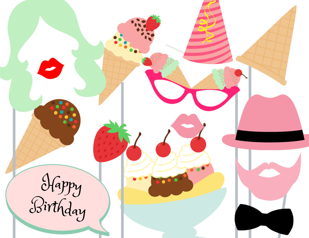 Printable Ice Cream Decor - Worksheet & Coloring Pages