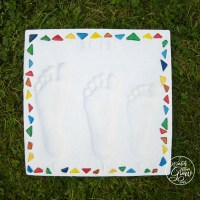 Kid's Footprint Stepping Stone Gift Idea