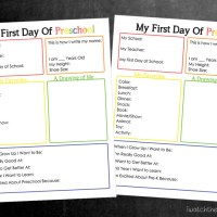 Printable Back to School Interview