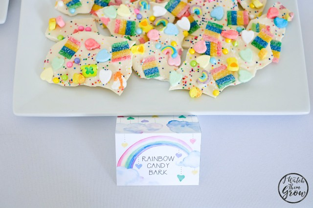 Rainbow candy bark is a must-have for your rainbow party and it's so easy to make! It's the perfect rainbow party treat!