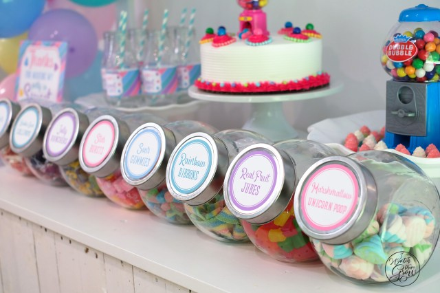 Sweet Shoppe party candy jars