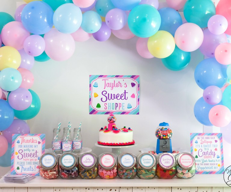 Sweet Shoppe party desert table