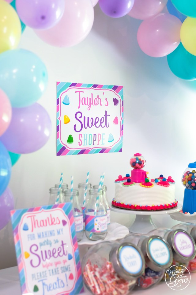 Custom Sweet Shoppe Party Sign