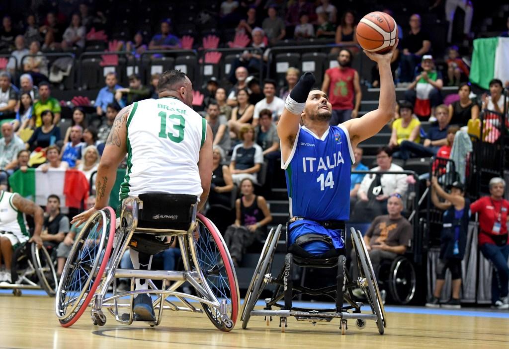 Brasilien - Italien Rollstuhlbasketball Weltmeisterschaften, Maenner Hamburg, 18. August 2018 Copyright: MSSP - MICHAEL SCHWARTZ SPORTPHOTO, Postfach 501129, 22711 Hamburg, Tel: 0171-6460044, www.mssp.biz - www.schwartz-photo.de