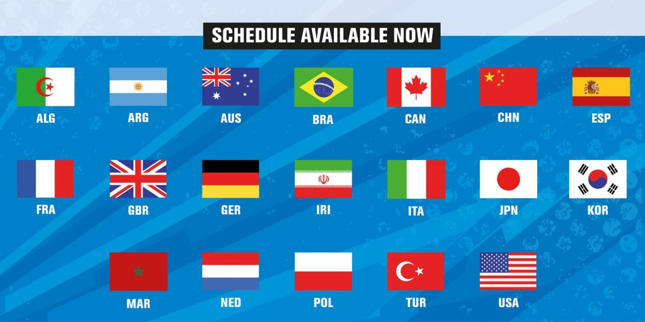 Changes to 2018 World Championships Schedule