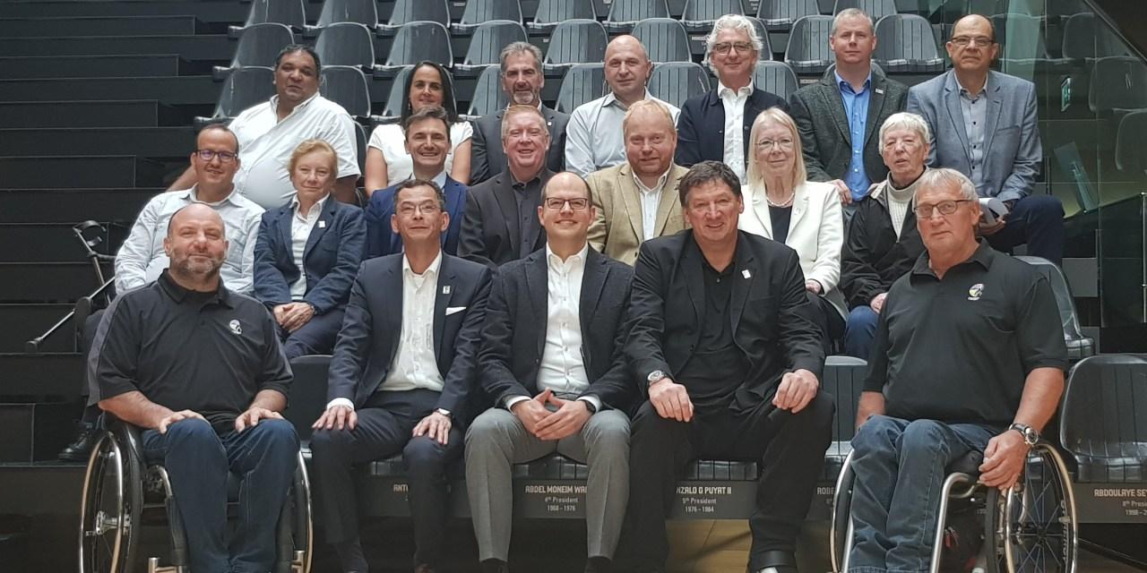 FIBA Secretary General Andreas Zagklis meets with IWBF Executive Council