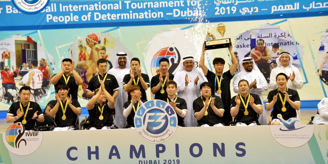 Korea win 11th Fazza International Wheelchair Basketball Tournament