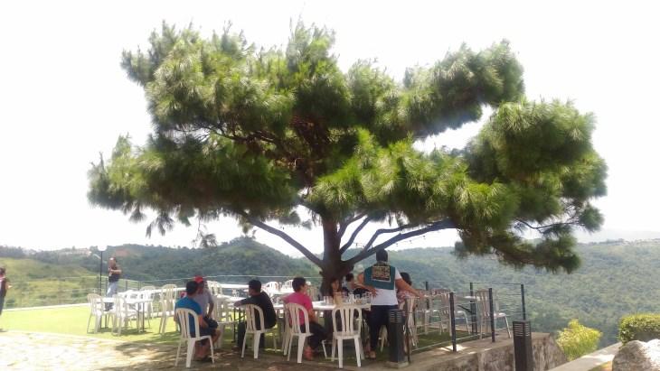 Martessem outdoor dining area