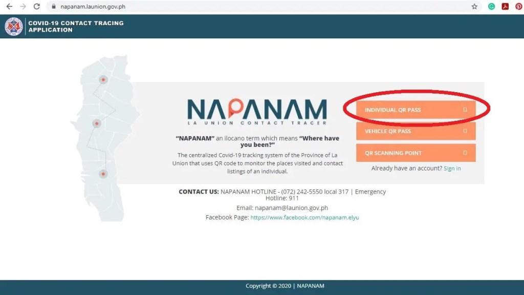 Napanam QR Code