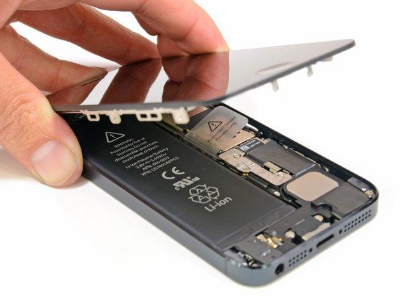 Поднимаем верхнюю панель на iPhone 5