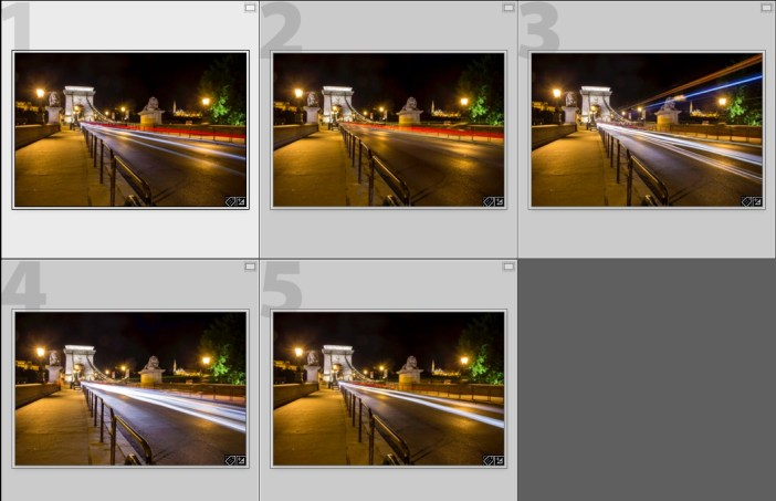 individual shots for lighttrails