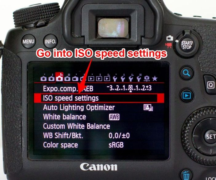 Canon 6D ISO speed settings