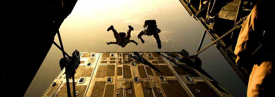 jumping plane military training