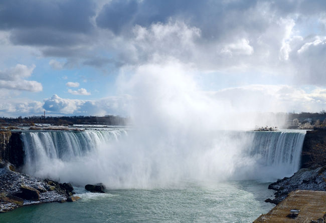 View of Niagara Falls' Horseshoe in Niaraga Ontario