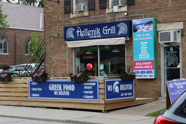 Hellenik Grill Restaurant located in the Yonge and Lawerence Village